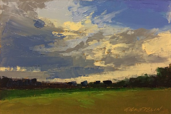 """Last Year…Summer Evening Clouds"" original fine art by Mary Gilkerson"