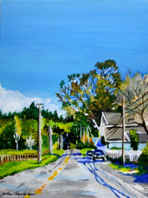 """""""This way to the Goat Farm"""" original fine art by JoAnne Perez Robinson"""