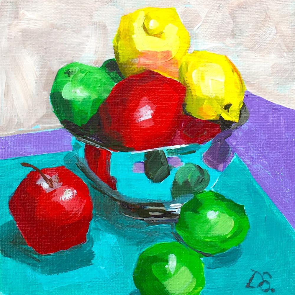 """Pile of fruit"" original fine art by Diana Stewart"