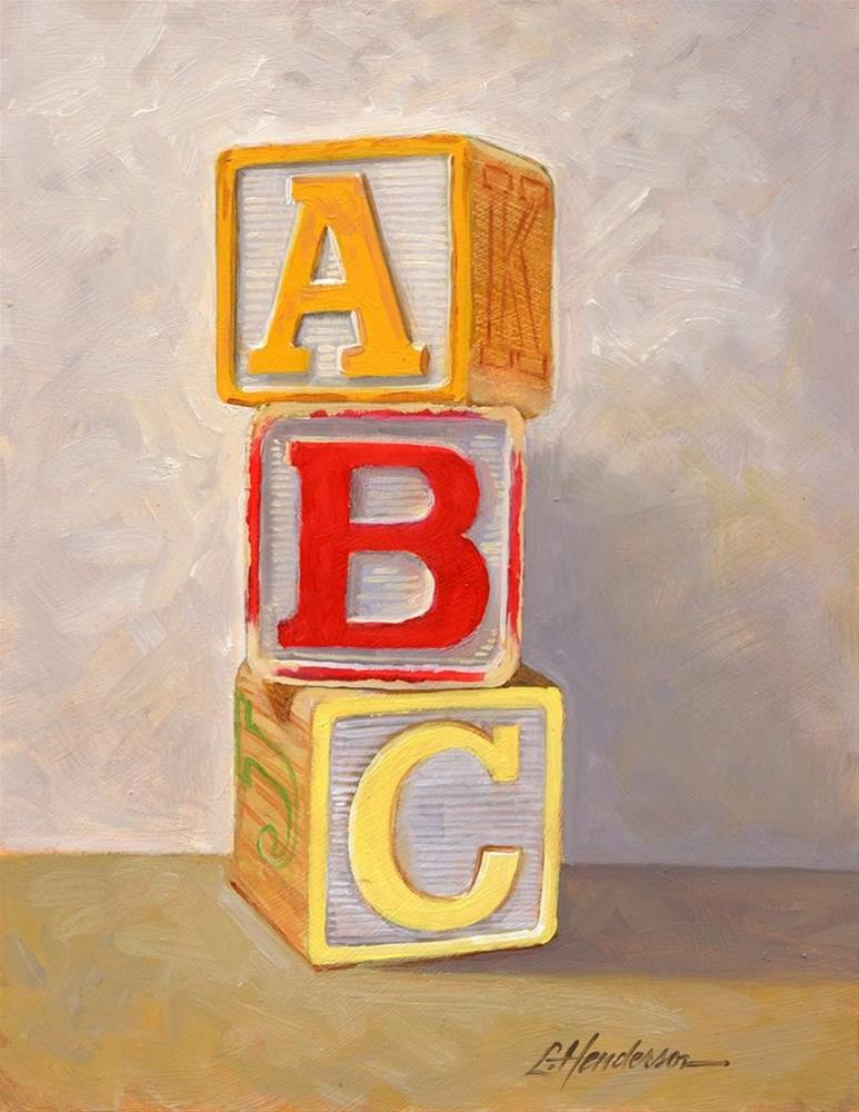 """ABC Blocks"" original fine art by Lael Henderson"