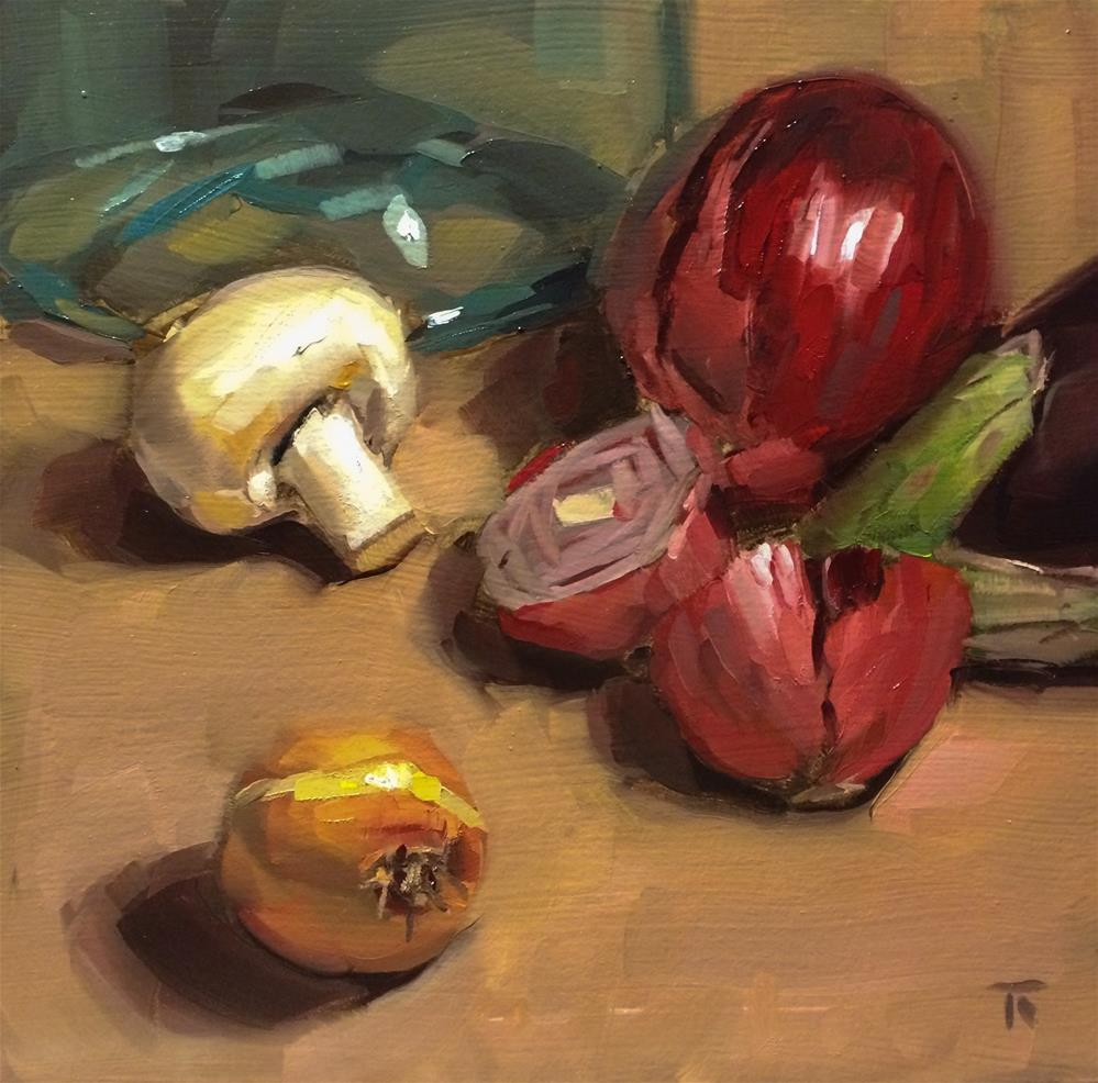 """Vegetable Selection 2"" original fine art by Thomas Ruckstuhl"