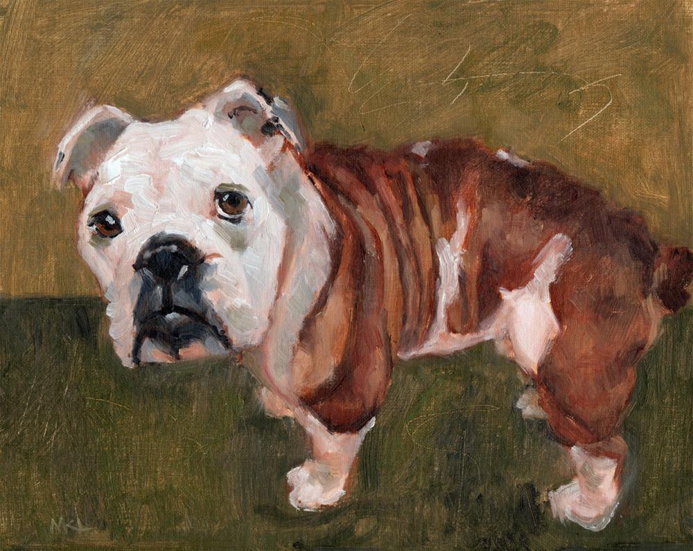 """Dozer"" original fine art by Marlene Lee"