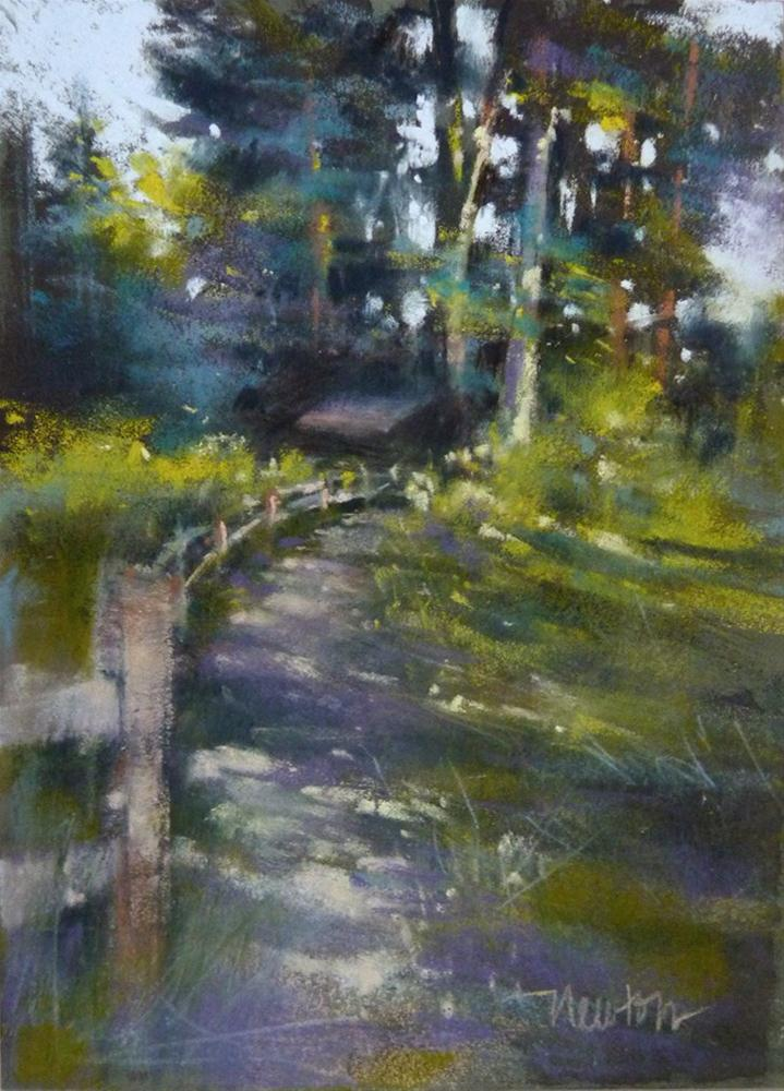 """Color study for Dappled Path"" original fine art by Barbara Benedetti Newton"