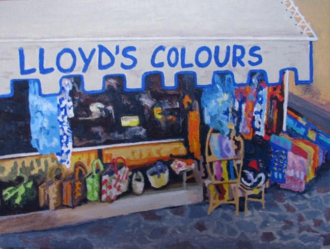 """The Everything Store"" original fine art by Nan Johnson"