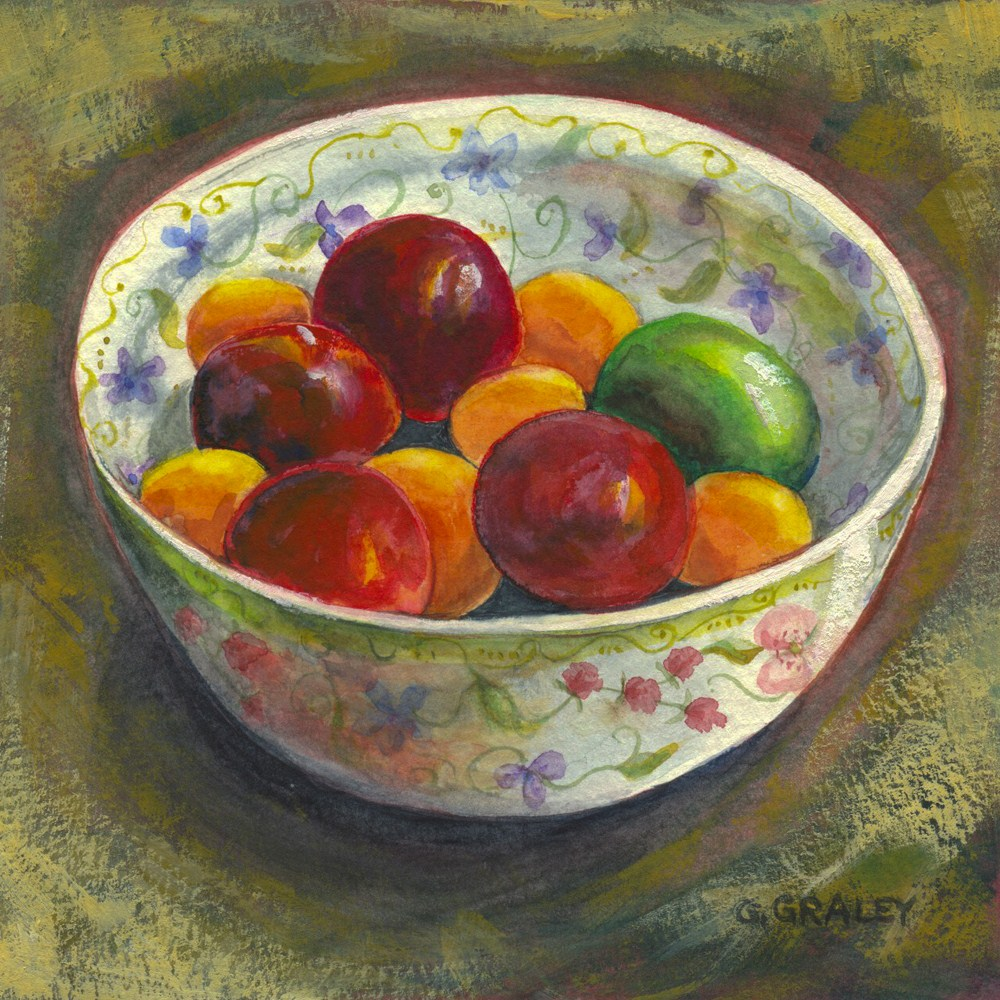 """Fruit Salad Waiting To Happen"" original fine art by Geri Graley"