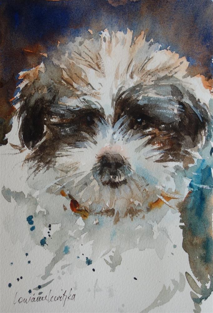 """""""Puppy Love"""" original fine art by Lorraine Lewitzka"""