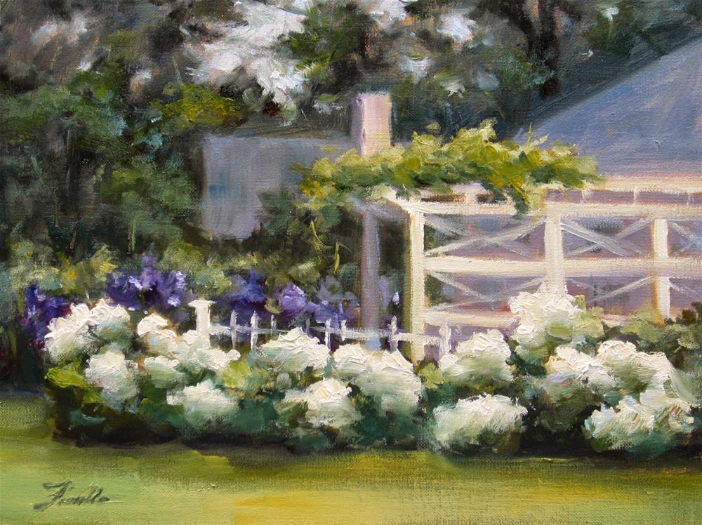 """Hydrangea Garden"" original fine art by Pat Fiorello"