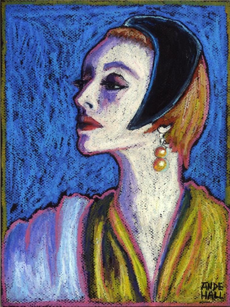 """""""Petit Chapeau Noir"""" original fine art by Ande Hall"""
