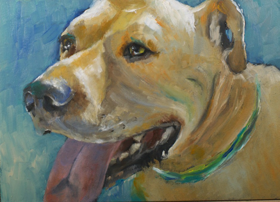 """Last Pet"" original fine art by Sue Churchgrant"