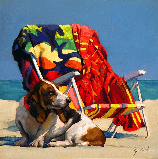 """Every Dog Has His Day"" original fine art by Karin Jurick"