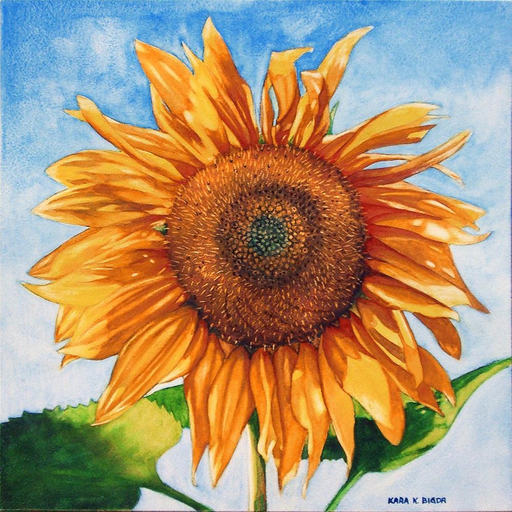 """Sunflower"" original fine art by Kara K. Bigda"