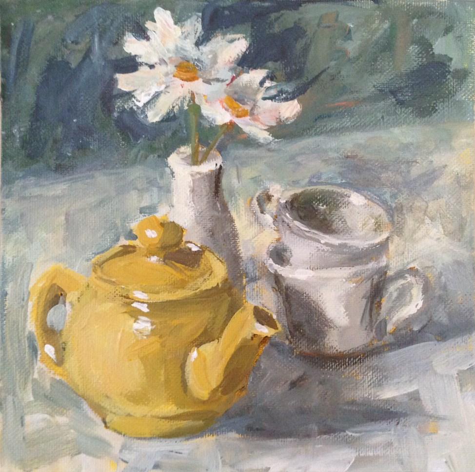 """Tea Break"" original fine art by Shannon Bauer"