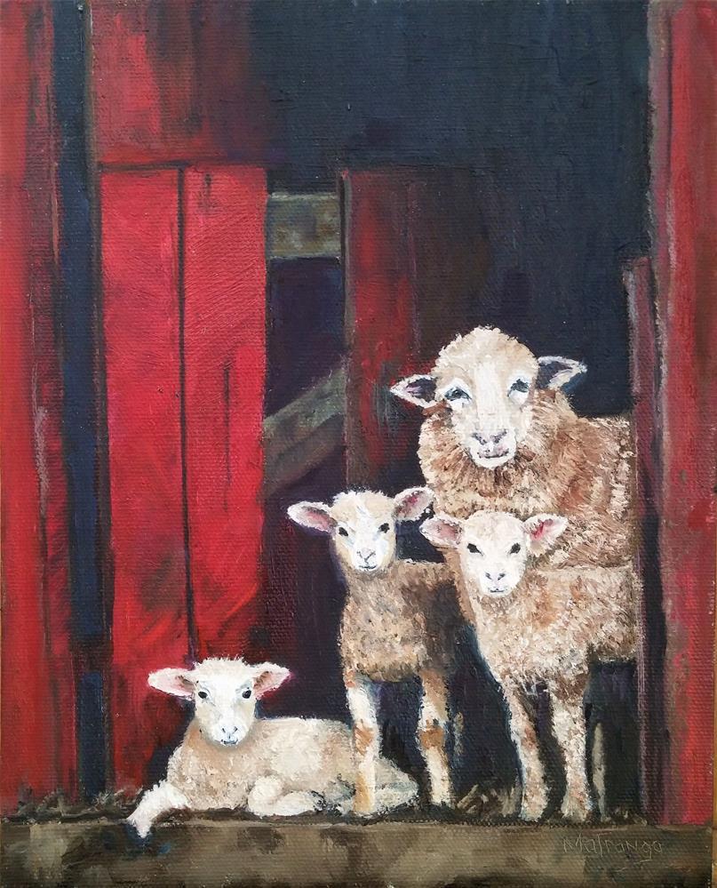 """""""Sheep Shelter"""" original fine art by Patricia Matranga"""