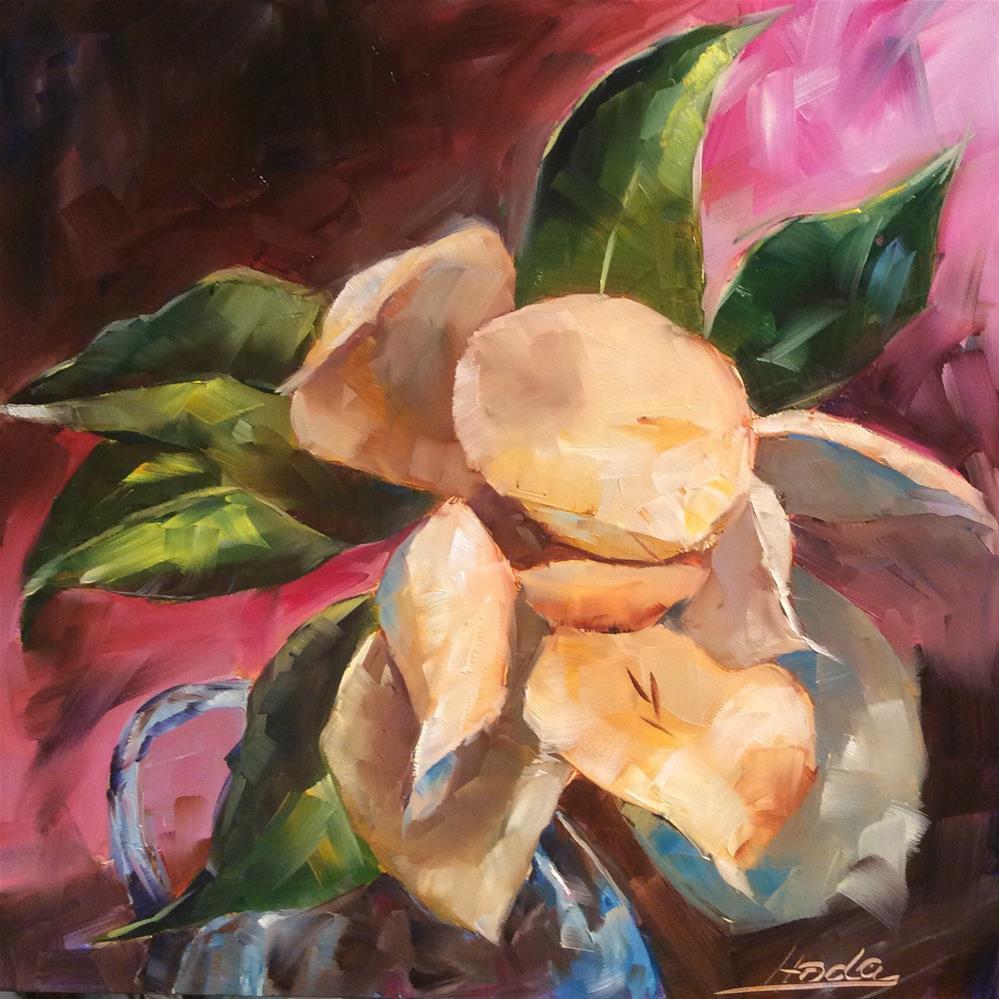 """Magnolia 2"" original fine art by Hoda Nicholas"