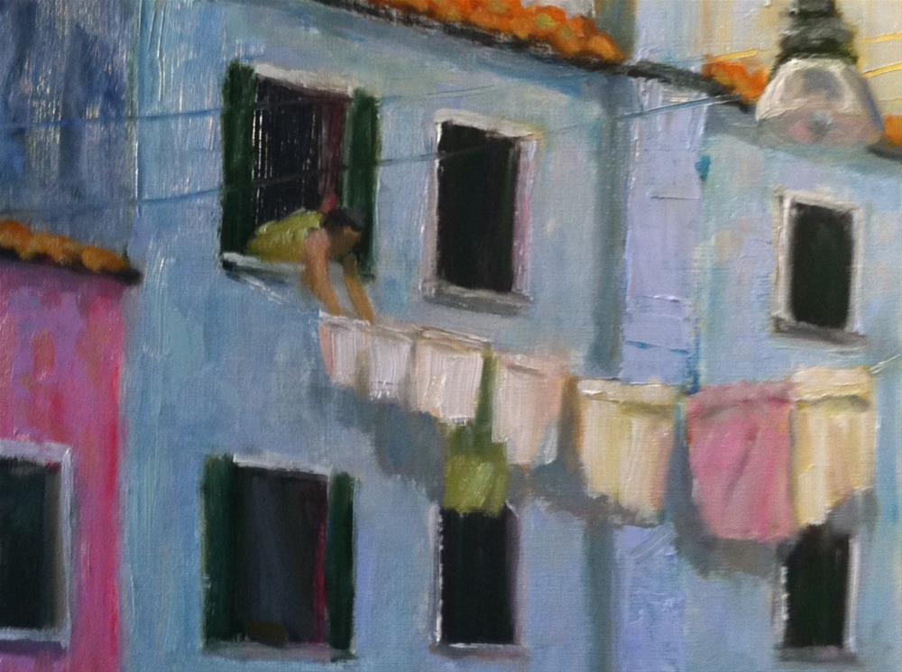 """Laundry Day"" original fine art by Katharine March"