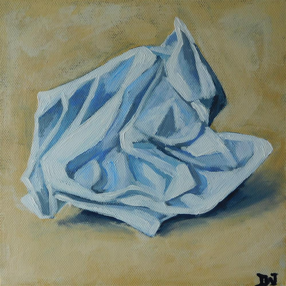 """Crumpled"" original fine art by Daryl West"