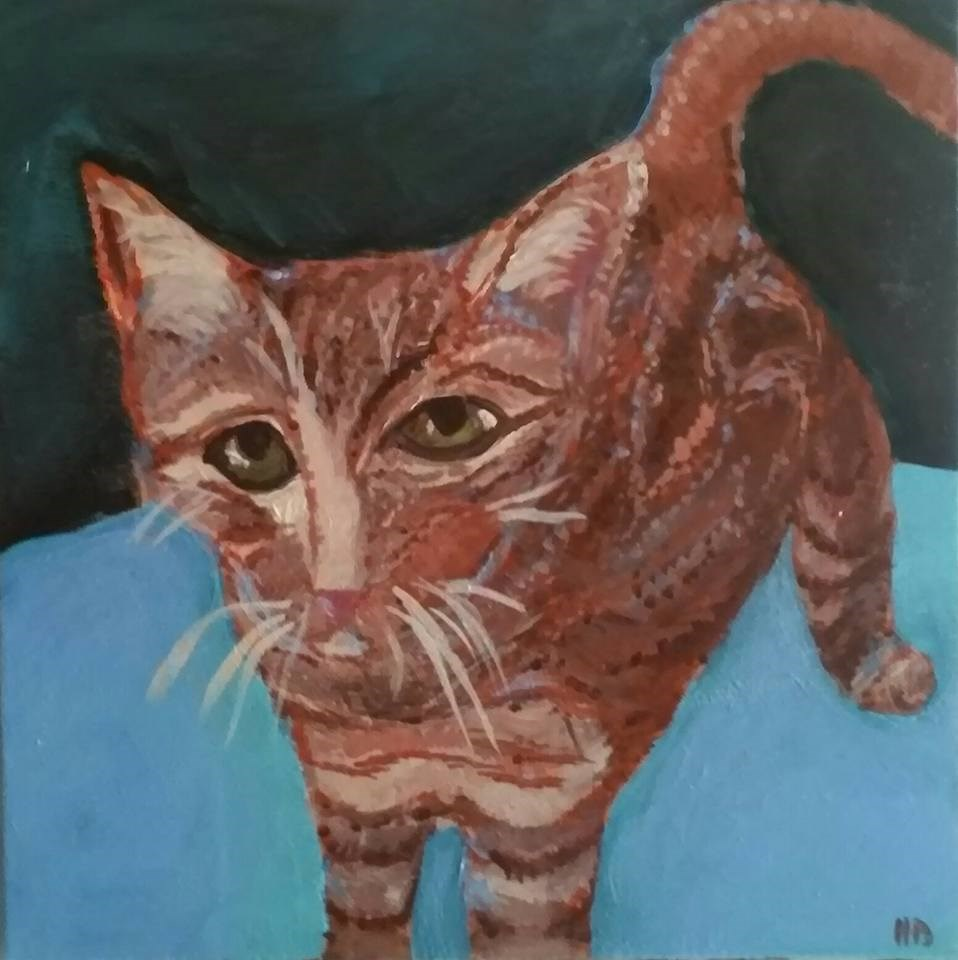"""Chet"" original fine art by Hallie Dozier"