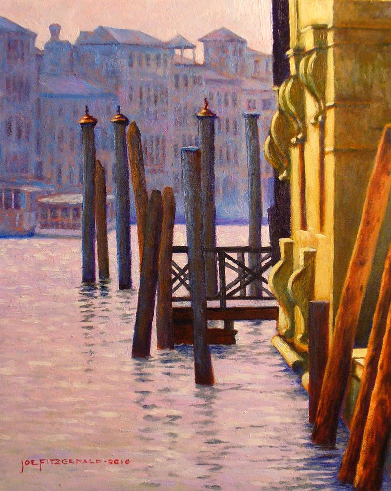 """On the Grand Canal"" original fine art by Joe Fitzgerald"