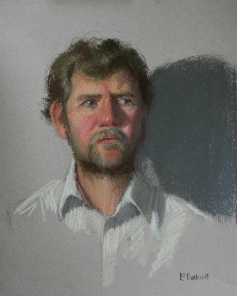 """Pastel sketch of Tom"" original fine art by Liz Balkwill"