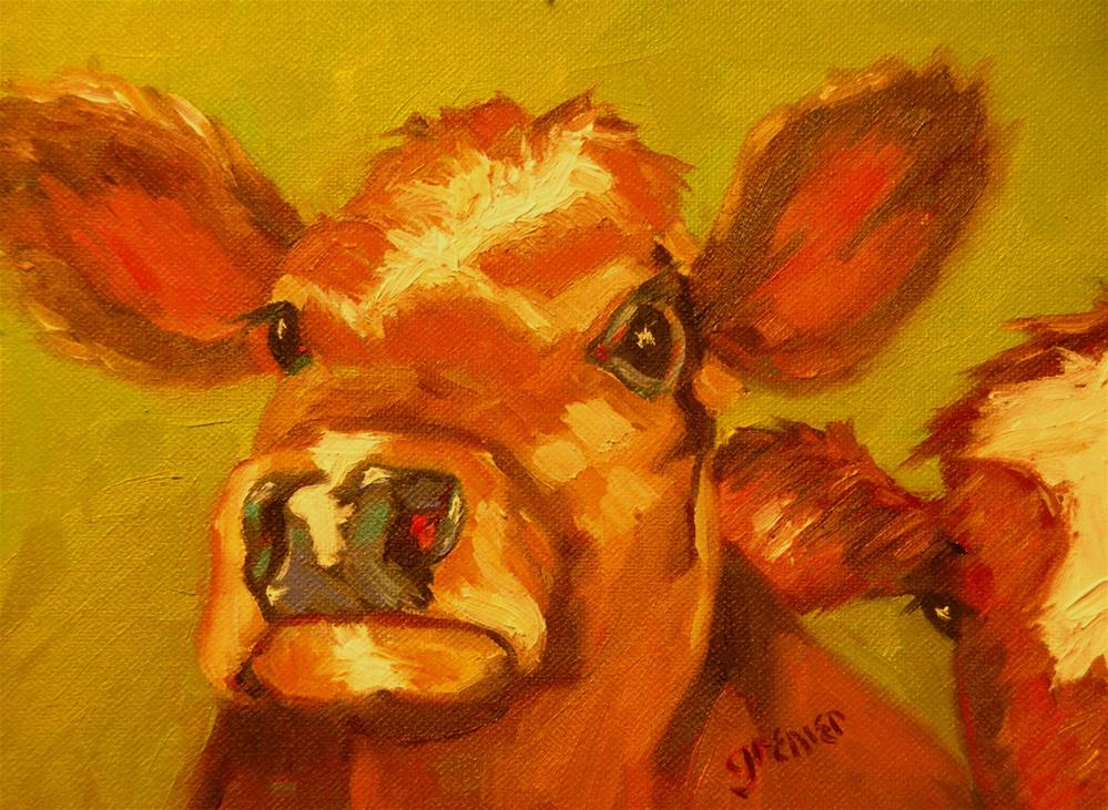 """Red Cows Original Oil Signed by Jean Grenier"" original fine art by jean grenier"