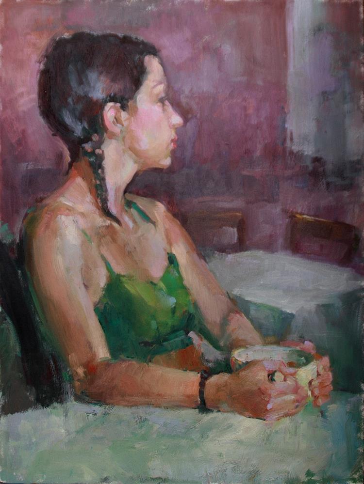 """Café Grand"" original fine art by Julie Snyder"