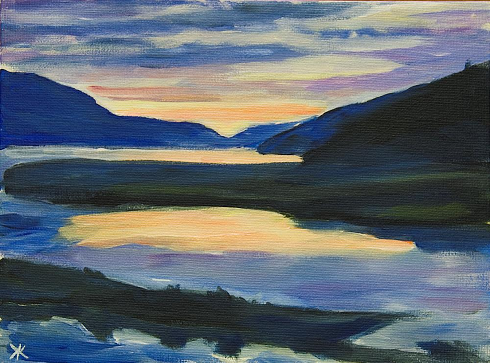 """Sunset, Juneau, Alaska."" original fine art by Yulia Kazansky"