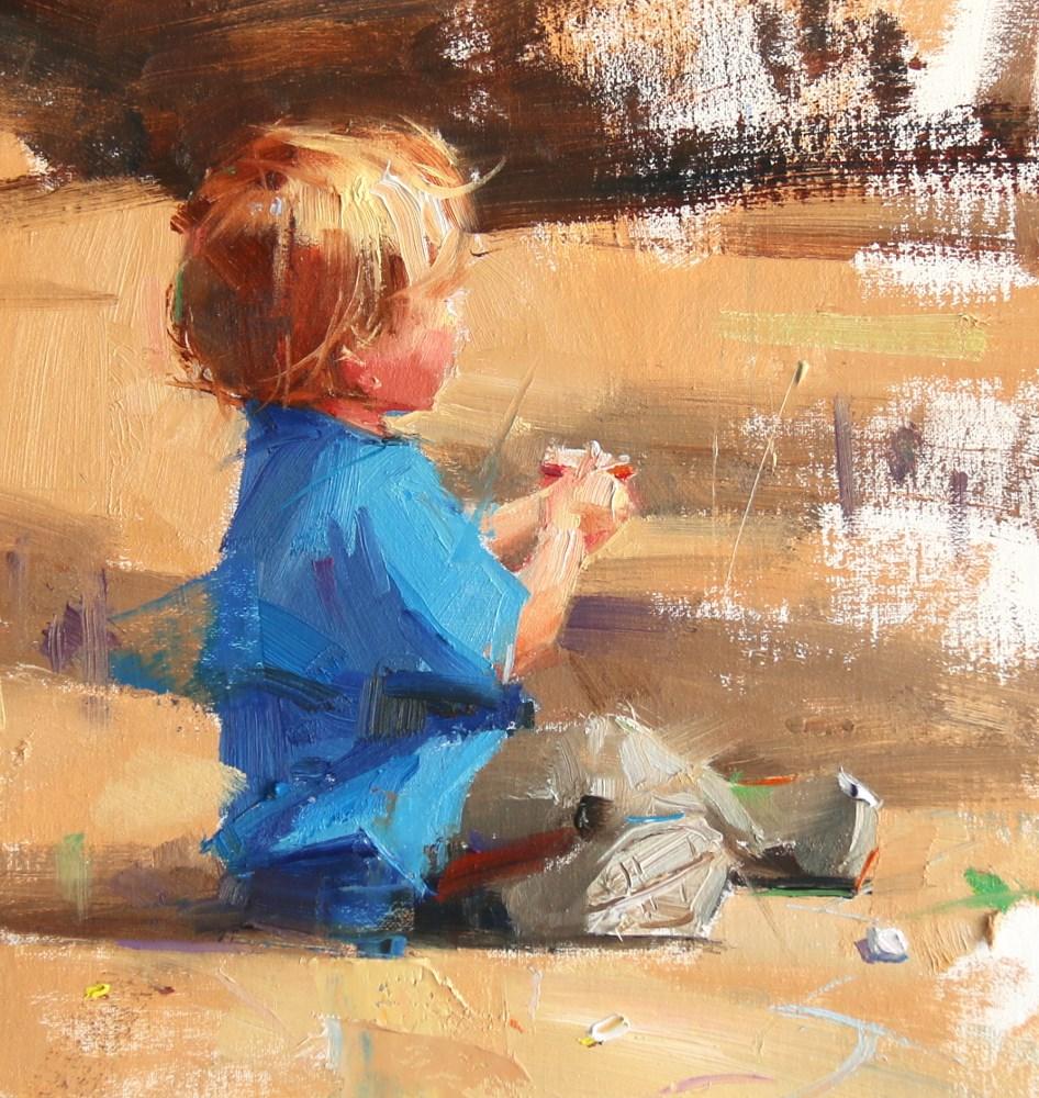 """Young Artist 3"" original fine art by Qiang Huang"