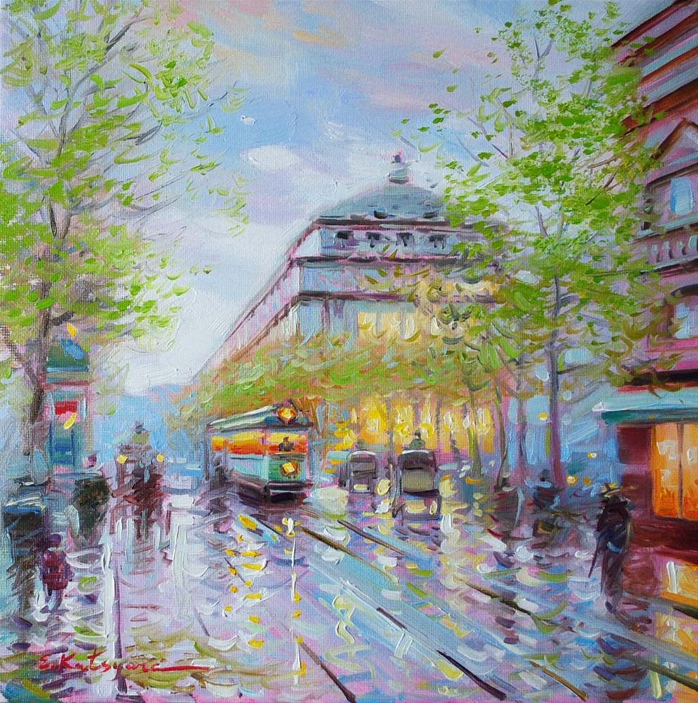 """Spring in Paris"" original fine art by Elena Katsyura"