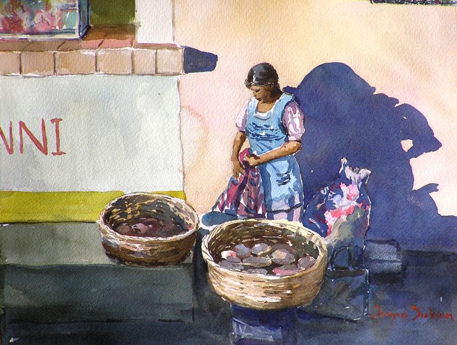 """SE VENDE TORTILLAS  OAXACA"" original fine art by Donna Dickson"