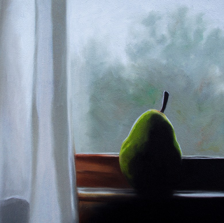 """Pear by Window"" original fine art by Lauren Pretorius"