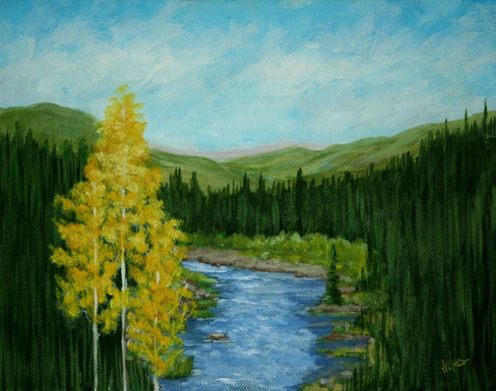 """Overlooking the Animas River"" original fine art by Sunny Williams"