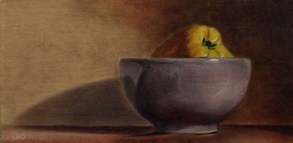"""Quince in a Bowl"" original fine art by Ulrike Miesen-Schuermann"