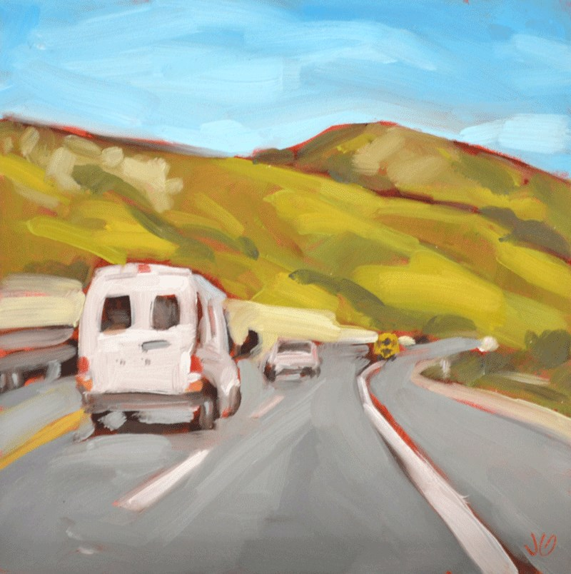 """California"" original fine art by Jessica Green"