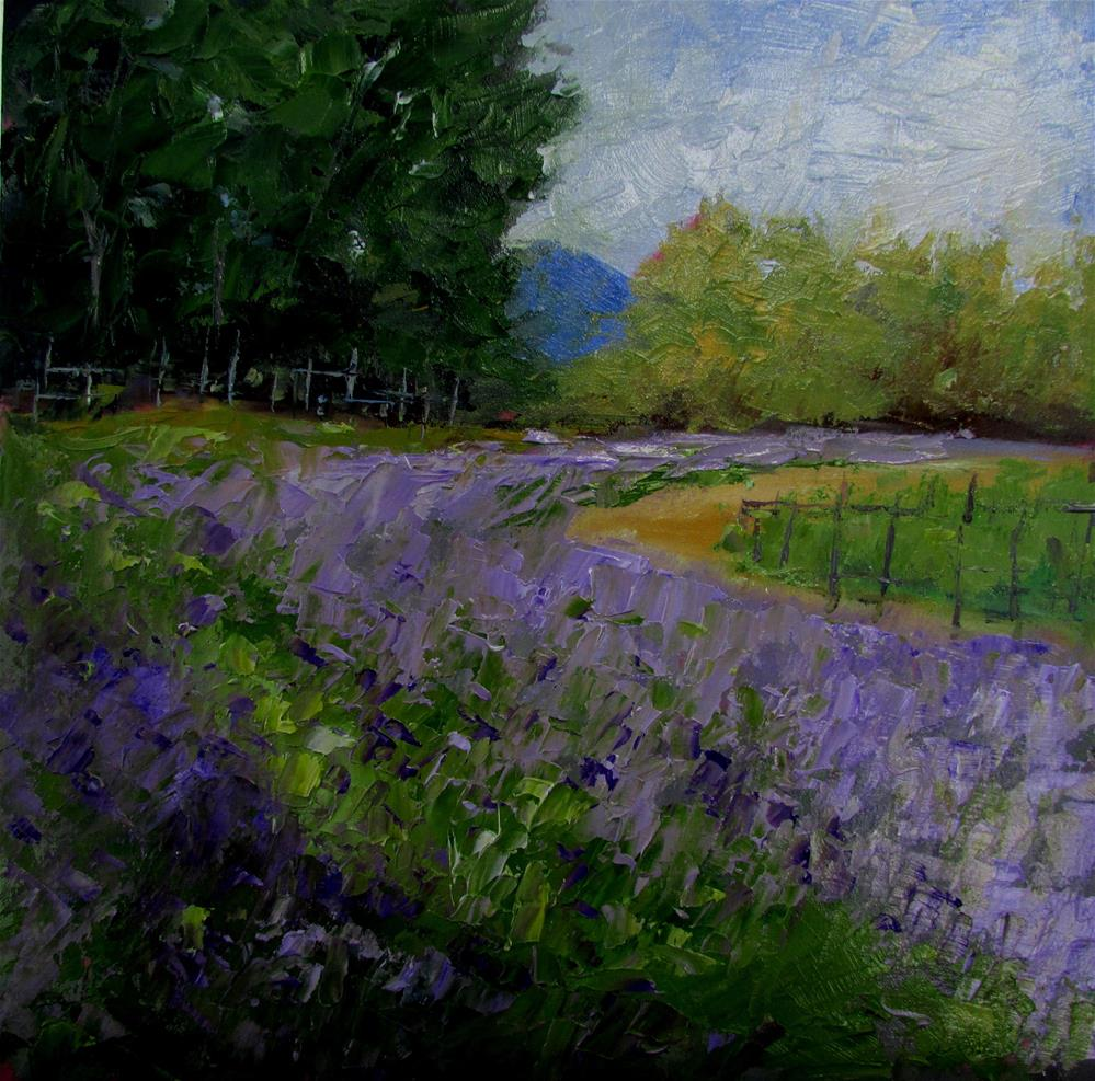 """8 x 8 inch oil Damali Farm"" original fine art by Linda Yurgensen"