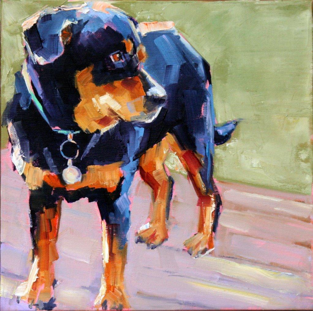 """Stubby"" original fine art by Carol Carmichael"