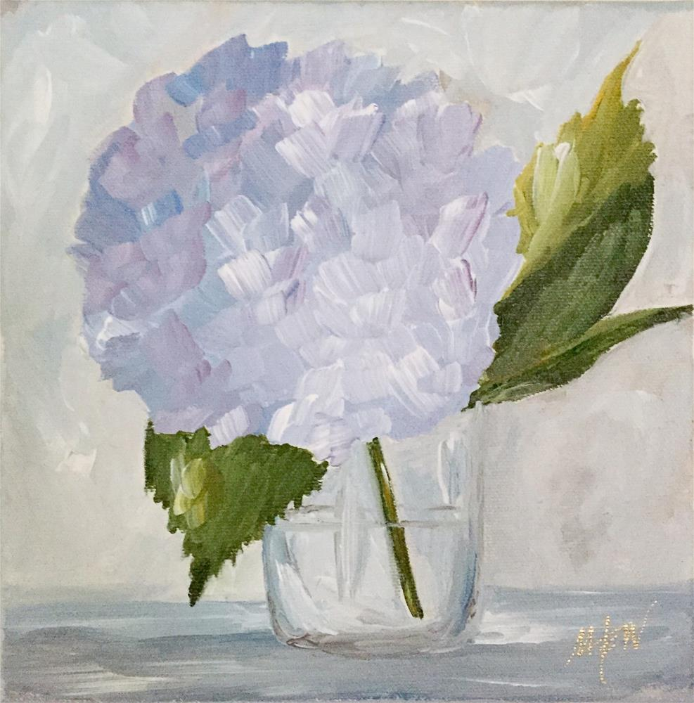 """June Hydrangea"" original fine art by Makenzi Tew"