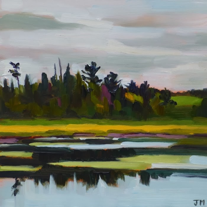 """Michigan Marsh"" original fine art by Jessica Miller"