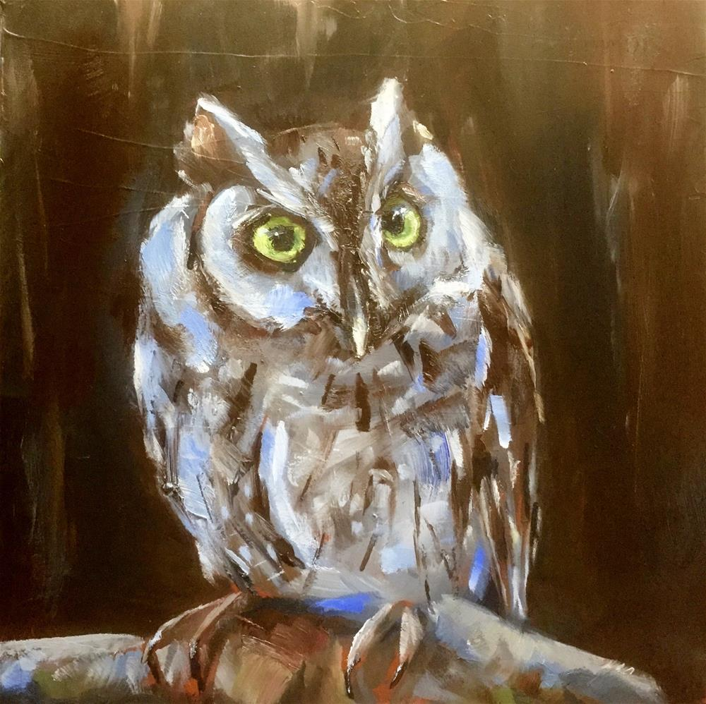 """Screech"" original fine art by Gary Bruton"