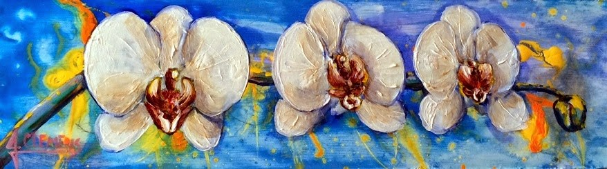 """Orchids"" original fine art by Jolynn Clemens"
