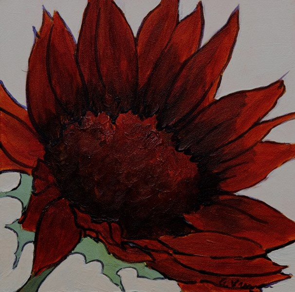 """Moulin Rouge Sunflower"" original fine art by Anna Vreman"