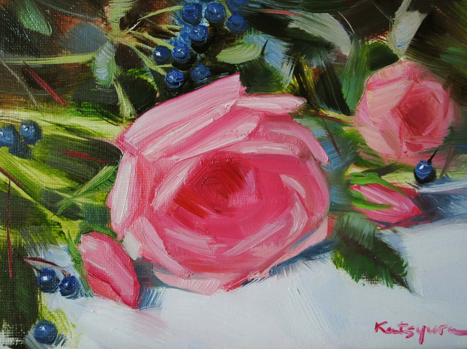 """Pink Dreams"" original fine art by Elena Katsyura"