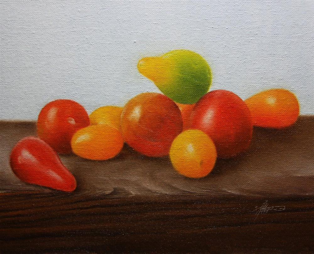 """Mixed Tomatoes II"" original fine art by Jonathan Aller"