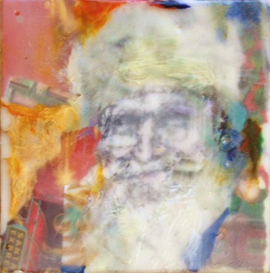 """""""Bold Santa"""" original fine art by Katie Wilson"""