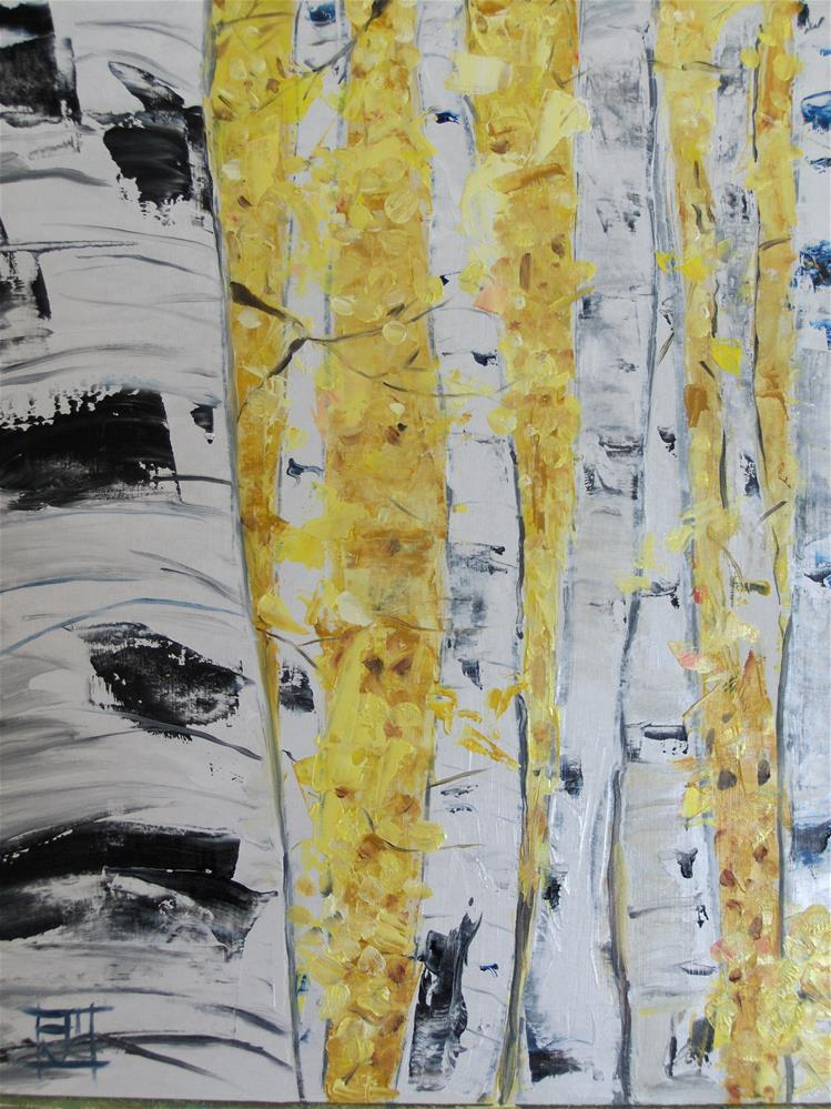 """birch trees"" original fine art by Arron McGuire"
