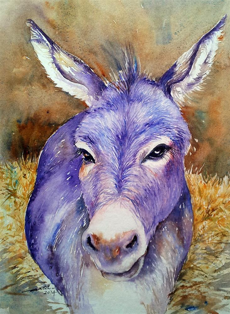 """Hayday Donkey"" original fine art by Arti Chauhan"
