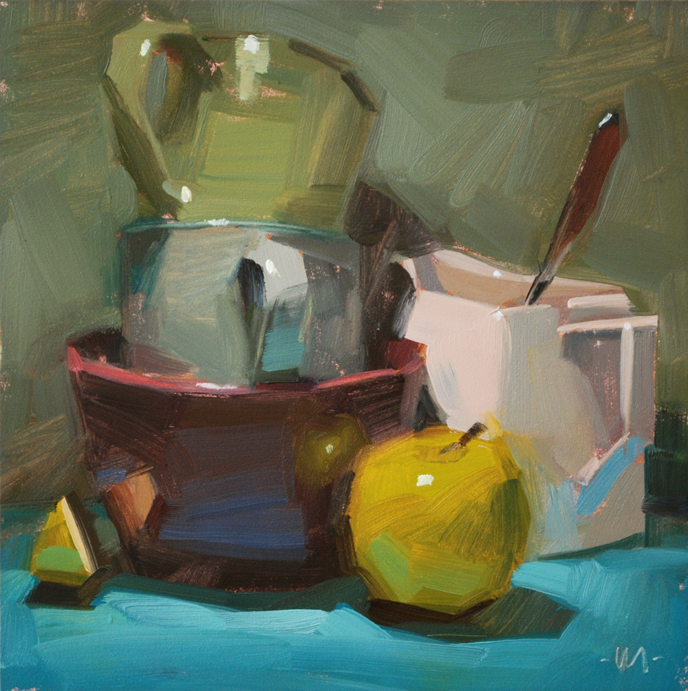 """The Kitchen Sink"" original fine art by Carol Marine"