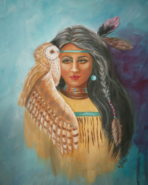 """Otekah, Sun Maiden, Lover of Birds"" original fine art by Sunny Williams"