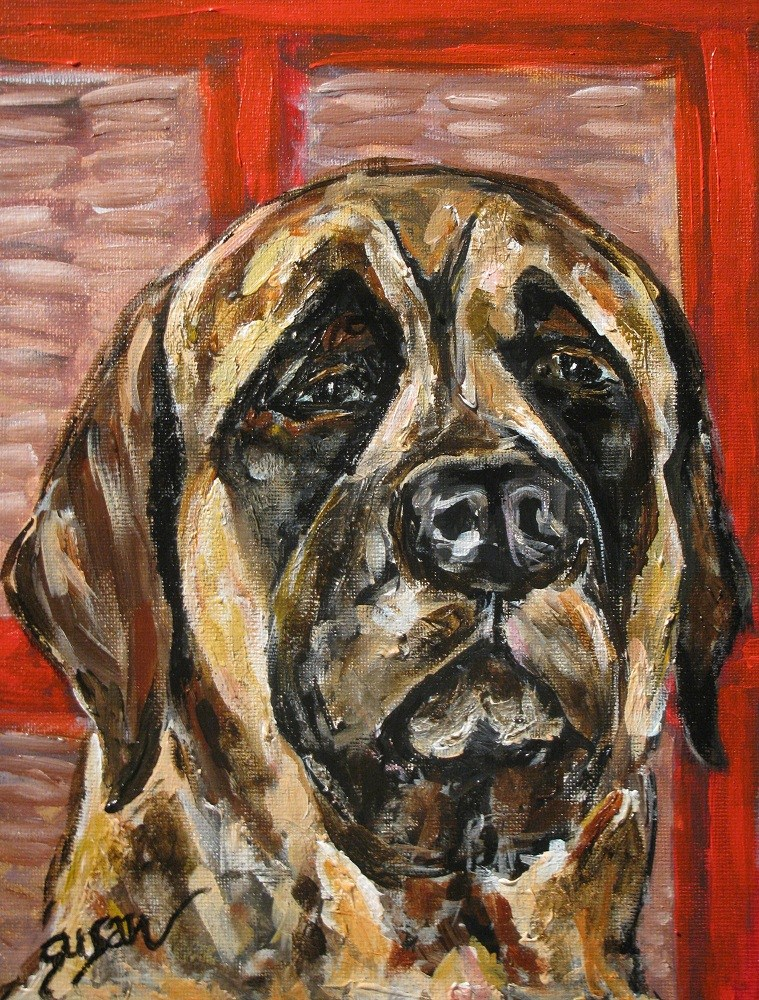 """Mastiff"" original fine art by Susan Elizabeth Jones"
