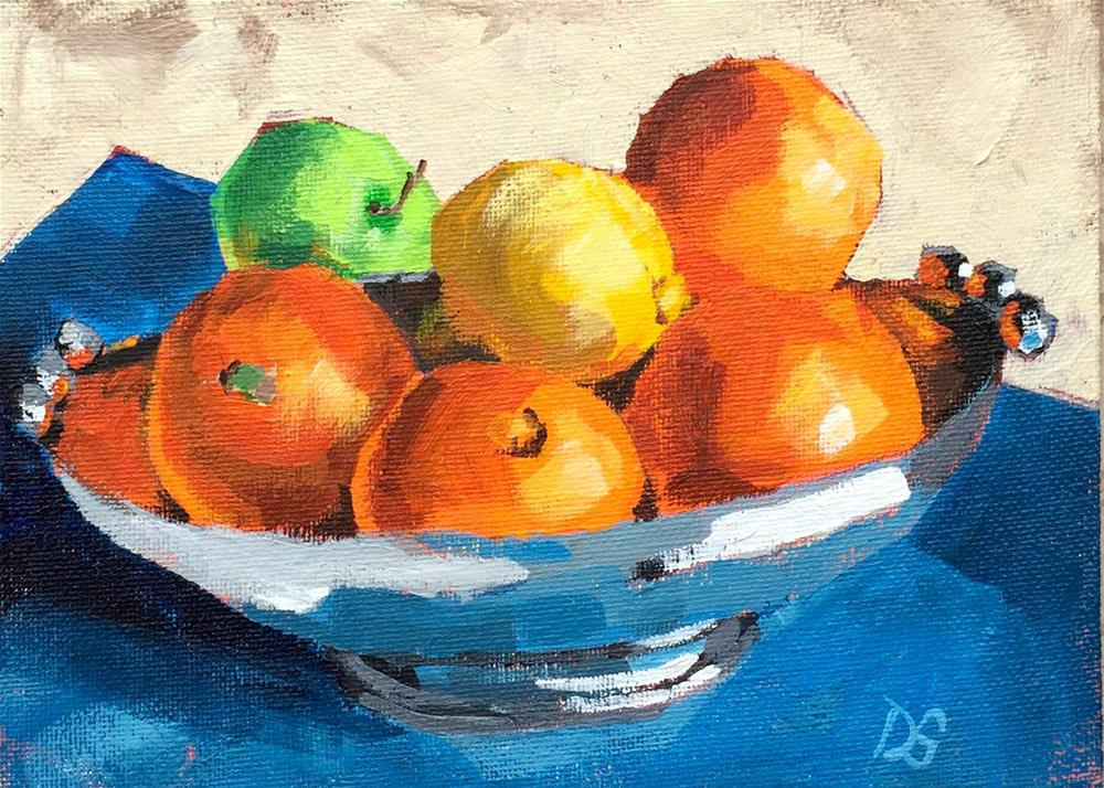 """Citrus and Silver"" original fine art by Diana Stewart"