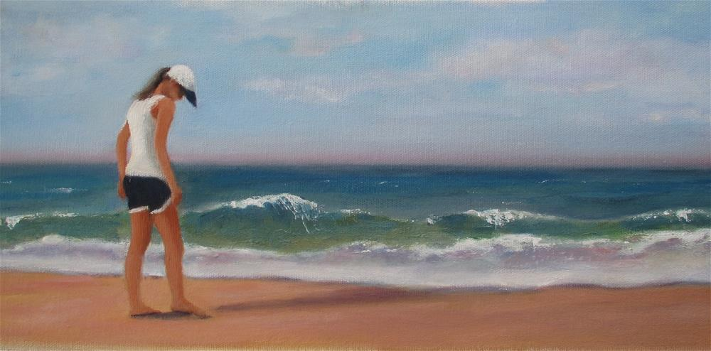"""The Shell Seeker"" original fine art by Linda Carney"